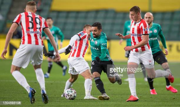 Janusz Gol Luquinhas Sylwester Lusiusz during the match between Legia Warsaw v Cracovia for the PKO Ekstraklasa in Warsaw Poland on February 29 2020