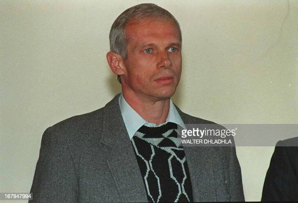 Janusz Walusz and Clive DerbyLewis who were charged with the 10 April 1993 killing of South African Communist Party SecretaryGeneral Chris Hani pose...