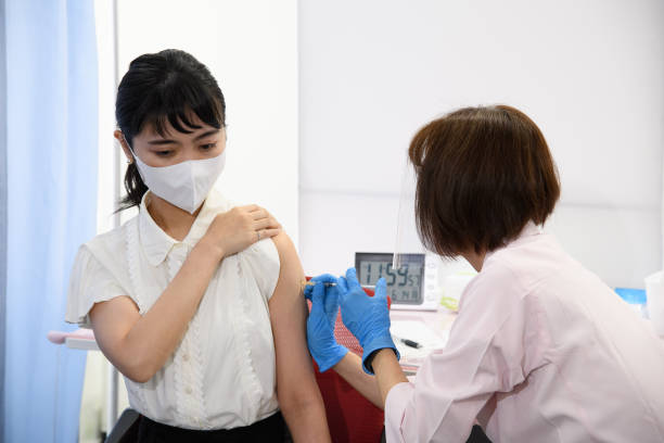 JPN: Japan Airlines Co. Employees Receive Covid-19 Vaccination