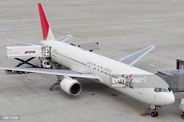 japan airlines - narita stock photos and pictures