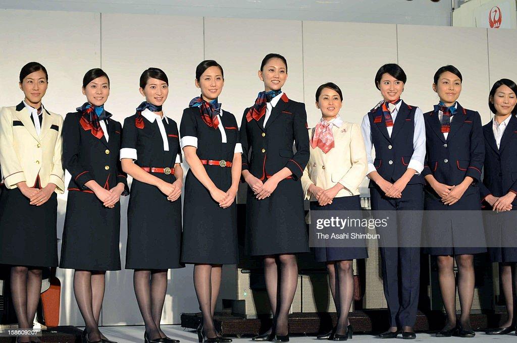 JAL Unveils New Uniforms : News Photo