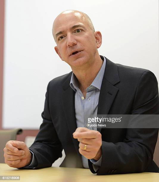 TOKYO Japan Amazoncom Inc chief executive officer Jeff Bezos speaks during an interview in Tokyo on Oct 24 2012 The US online retailer said the same...
