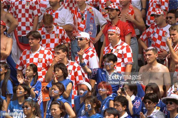 Japan and Croatia fans together in the crowd