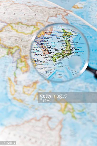 Japan and  Magnifying glass
