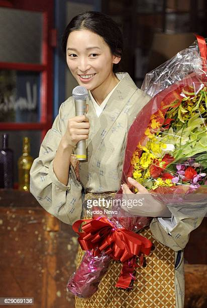 "Japan - Anne Watanabe talks about her leading role in Japanese public broadcaster NHK's serial morning TV drama ""Gochisousan"" after the completion of..."