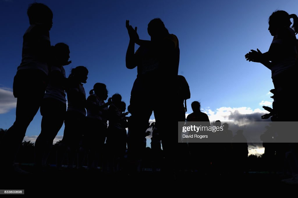 Japan applaud australia following their win during the Women's Rugby World Cup Pool C match between Australia and Japan at Billings Park UCD on August 17, 2017 in Dublin, Ireland.