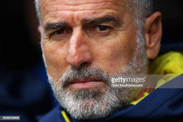 Japan Assistant Manager / coach Mauro Tassotti looks on prior to the International friendly match between Japan and Ukraine held at Stade Maurice...