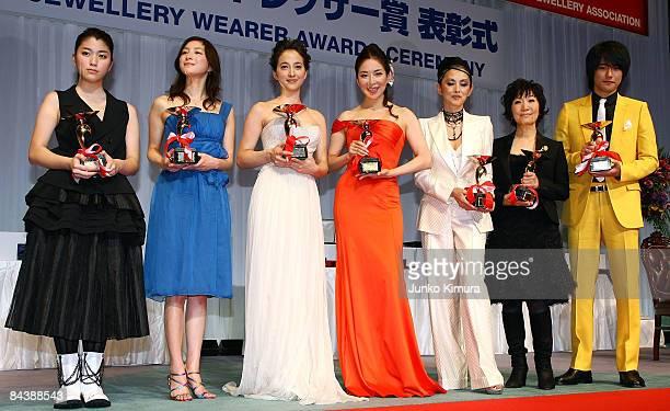 Japan Best Jewellery Dresser Award winners Japanese actresses Riko Narumi Ryoko Hirosue Christel Takigawa Miki Maya Mari Natsuki singer Ryoko...