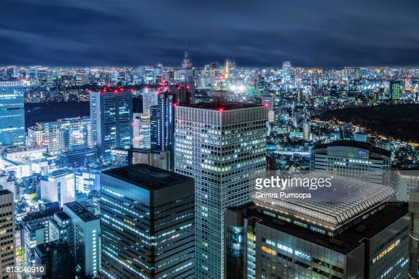 Japan cityscape view from Metropolitan Government Building in Shinjuku, Tokyo