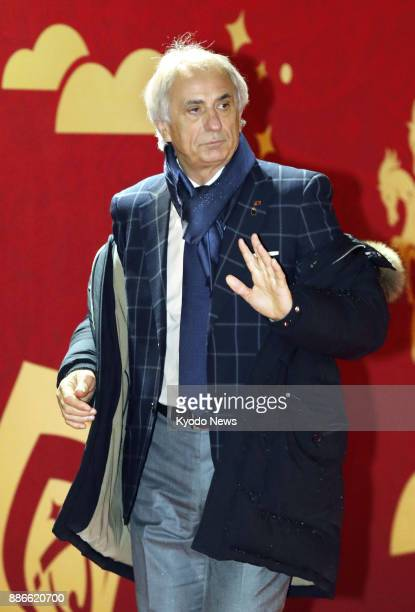 Japan coach Vahid Halilhodzic enters the hall at the Kremlin in Moscow on Dec 1 2017 where the draw for the 2018 soccer World Cup finals in Russia...