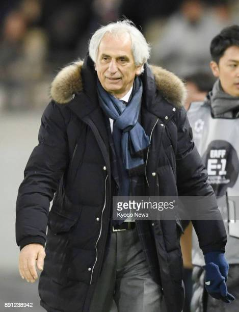 Japan coach Vahid Halilhodzic is pictured after a 21 win over China in an E1 Football Championship match at Ajinomoto Stadium in Chofu Tokyo on Dec...