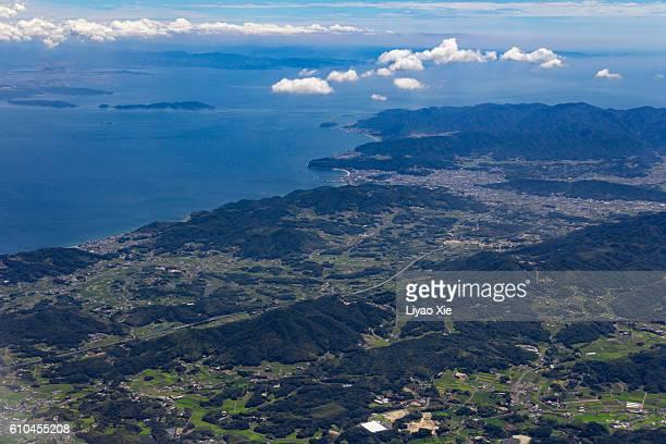 japan coastline - liyao xie stockfoto's en -beelden