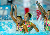 budapest hungary japan compete during synchronised
