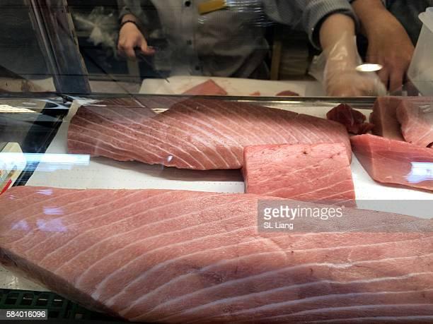 Japan culture food sushi (tuna meat)