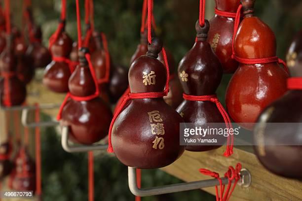 japan, dazaifu tenmangu shrine, gourds - 福岡県 ストックフォトと画像