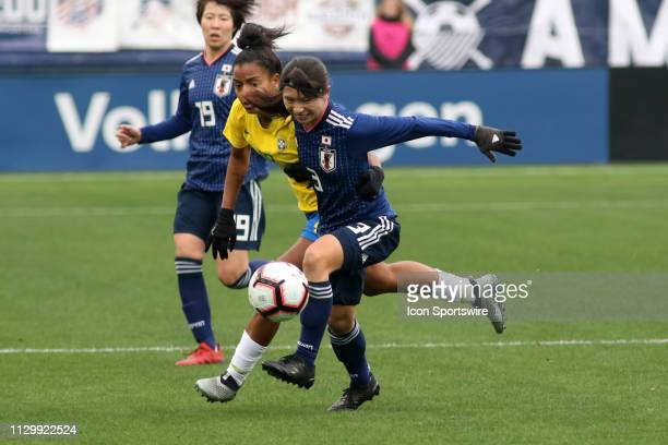 Japan defender Aya Sameshima during the SheBelieves Cup match between Brazil and Japan at Nissan Stadium on March 2nd 2019 in Nashville Tennessee