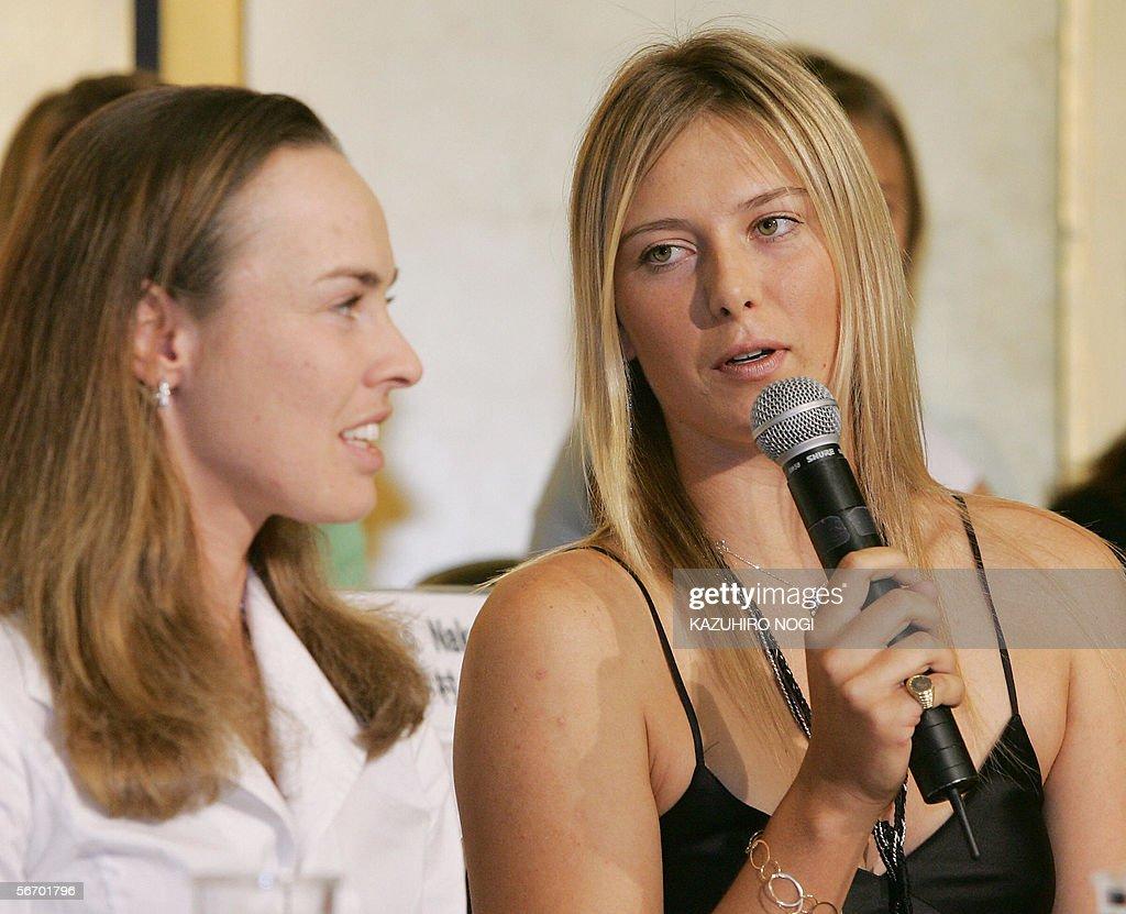 Defending champion Maria Sharapova of Russia answers ...