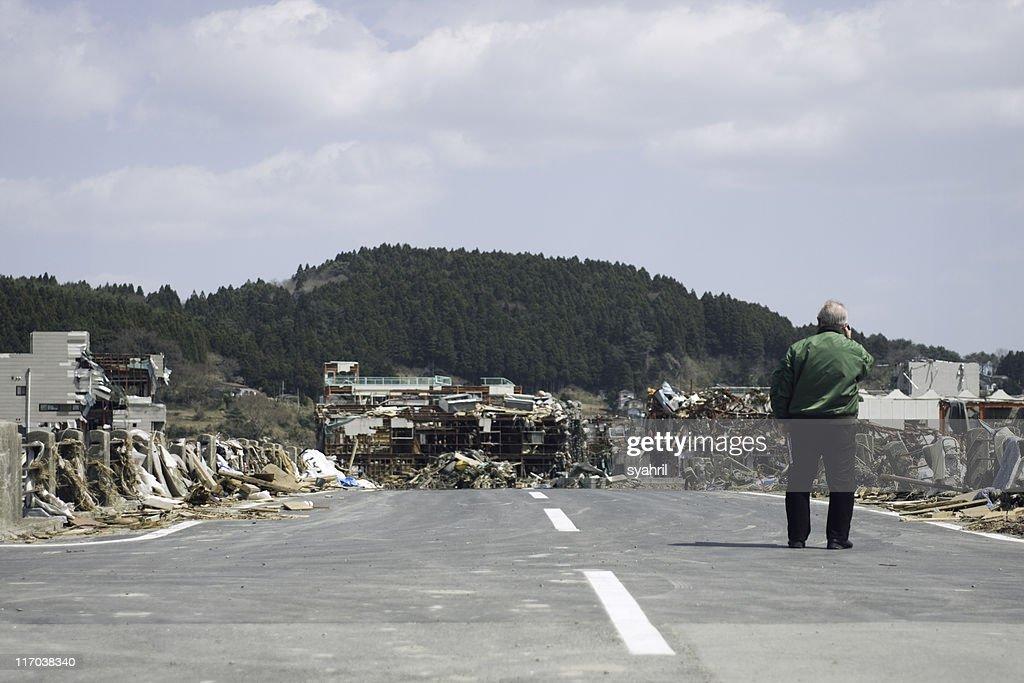 Japan earthquake and tsunami, March 11th. : Stock Photo