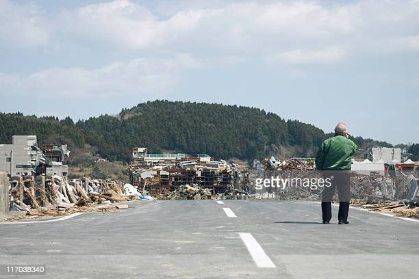 japan earthquake and tsunami, march 11th. - earthquake stock pictures, royalty-free photos & images