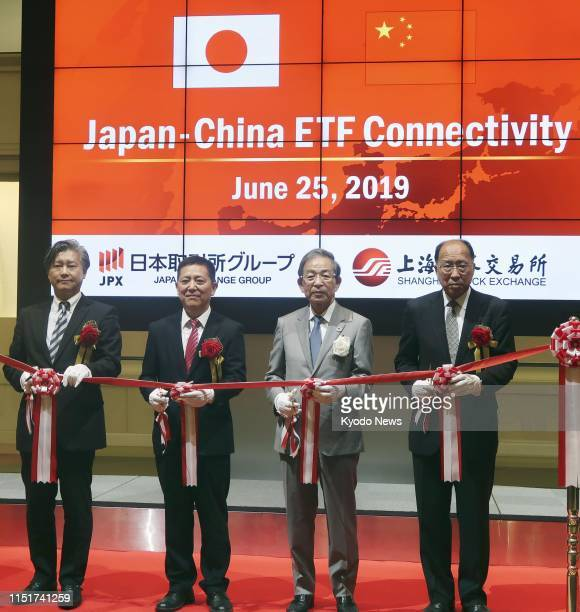 Japan Exchange Group Inc CEO Akira Kiyota attends a ribboncutting ceremony at the Tokyo Stock Exchange on June 25 to mark the start of crosslisting...