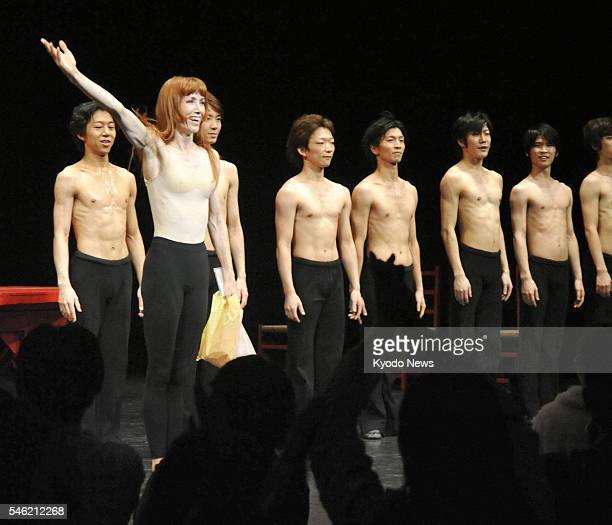IWAKI Japan Famed French dancer Sylvie Guillem receives a curtain call after performing at a theater in Iwaki Fukushima Prefecture on Nov 1 2011 The...