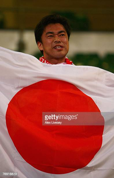 Japan fan enjoys the action during the Rugby World Cup 2007 Pool B match between Wales and Japan at the Millennium Stadium on September 20 2007 in...