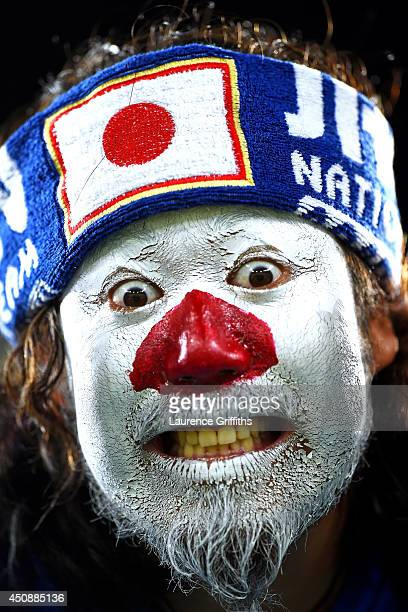 Japan fan shows support prior to the 2014 FIFA World Cup Brazil Group C match between Japan and Greece at Estadio das Dunas on June 19 2014 in Natal...