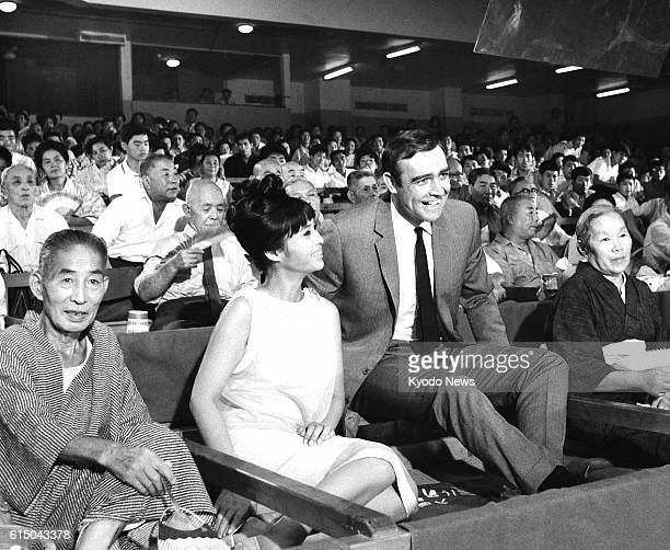 TOKYO Japan File photo shows Sean Connery as James Bond and Japanese actress Akiko Wakabayashi as a Bond girl while shooting a scene for the movie...