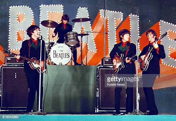 TOKYO Japan File photo shows the Beatles in their first performance in Japan at Tokyo's Nippon Budokan in June 1966