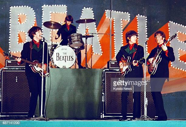 TOKYO Japan File photo shows The Beatles performing at Tokyo's Nippon Budokan hall in 1966