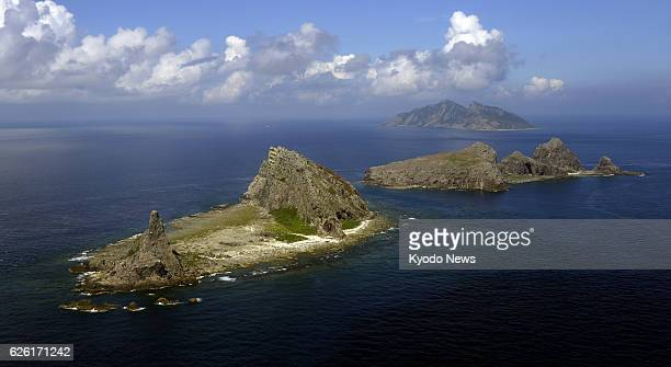 TOKYO Japan File photo taken from a Kyodo News airplane shows Minamikojima Kitakojima and Uotsuri islands part of the five main islands in the...