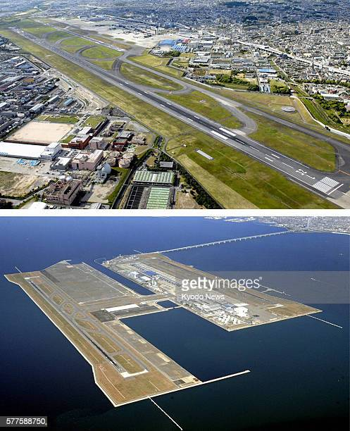 TOKYO Japan File undated combination photo shows Itami airport straddling northern Osaka and Hyogo prefectures and Kansai International Airport in...