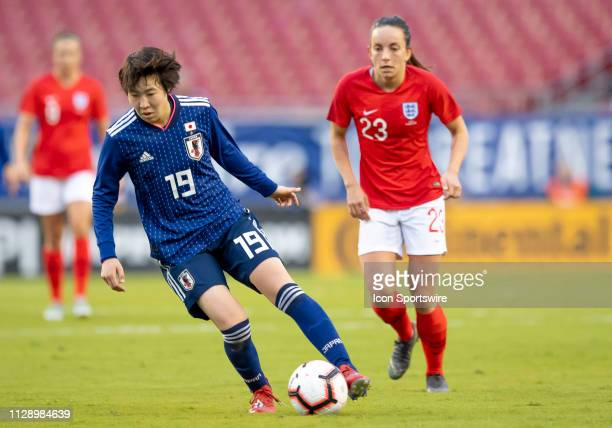 Japan Forward Jun Endo during the She Believes Cup match between the Japan and England on March 5 2019 at Raymond James Stadium in Tampa Fl