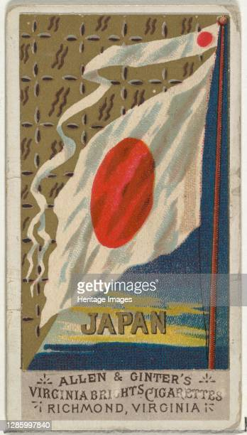 Japan, from Flags of All Nations, Series 1 for Allen & Ginter Cigarettes Brands, 1887. Artist Allen & Ginter.