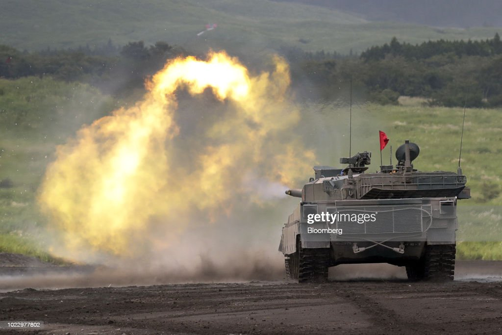 3490b8f1dab2 Japan Ground Self-Defense Force Conducts Live Fire Exercise   News Photo