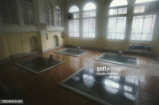 japan, gunma prefecture, agatsuma-gun, indoor hot spring bath - kazuko kimizuka stock pictures, royalty-free photos & images