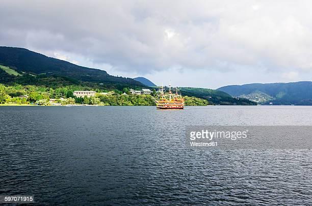 Japan, Hakone, Lake Ashi, tourist pirate ship