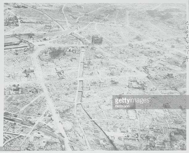 Hamamatsu U S Superforts Level Jap City Hamamatsu Japan was a thriving industrial city until B29 Superforts got through with it Here is a picture of...