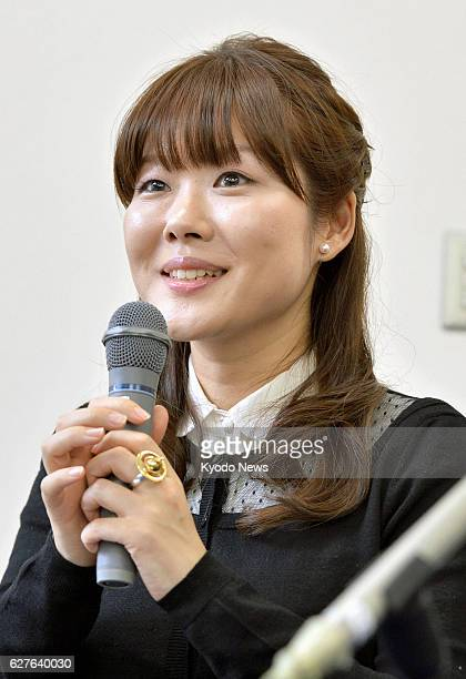 Japan - Haruko Obokata, a scientist at Riken's Center for Developmental Biology in Kobe, answers a question at a press conference in Kobe, Hyogo...