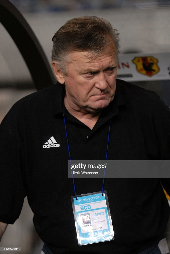 Japan head coach Ivica Osim looks on during the AFC Asian Cup 2007 Qualifier match between Japan and Yemen at Niigata Big Swan Stadium on August 16, 2006 in Niigata, Japan.