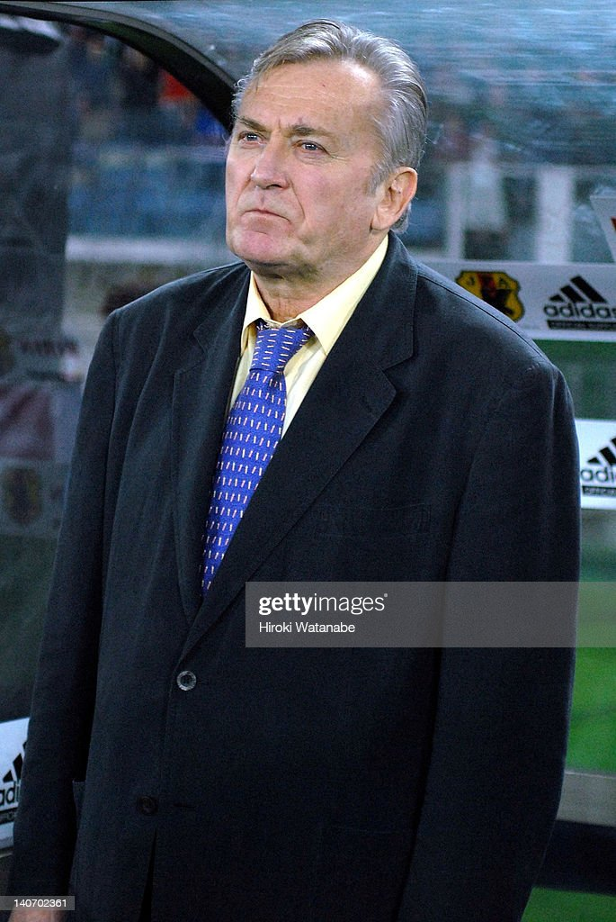 Japan head coach Ivica Osim looks on during the international friendly match between Japan and Ghana at Nissan Stadium on October 4, 2006 in Yokohama, Kanagawa, Japan.