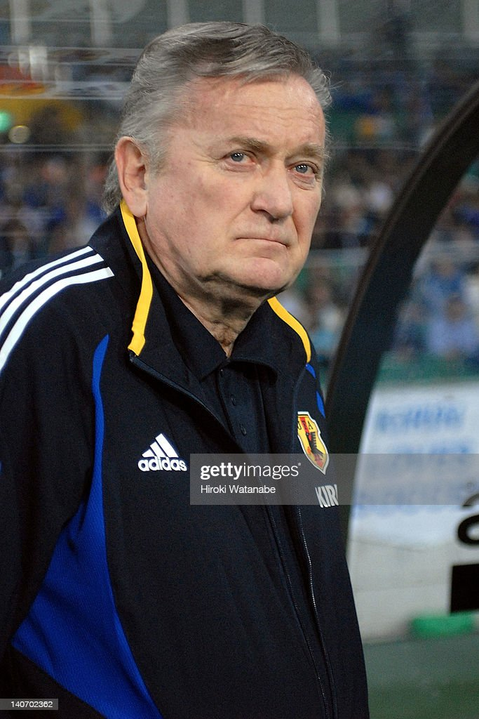 Japan head coach Ivica Osim looks on during the international friendly match between Japan and Montenegro at Ecopa Stadium on June 1, 2007 in Fukuroi, Shizuoka, Japan.