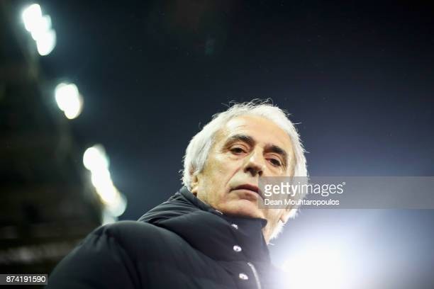 Japan Head Coach / Manager Vahid Halilhodzic looks on during the international friendly match between Belgium and Japan held at Jan Breydel Stadium...