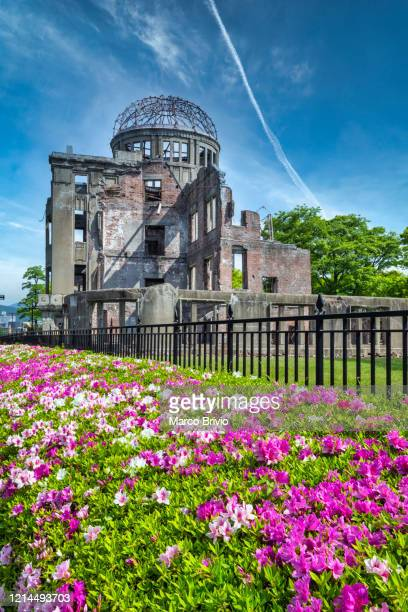 japan hiroshima. genbaku bombing dome - marco brivio stock pictures, royalty-free photos & images