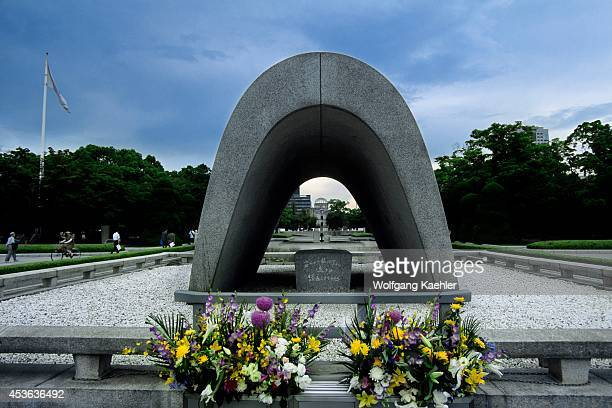 Japan Hiroshima Peace Memorial Park Wwii Memorial Abomb Dome In Background
