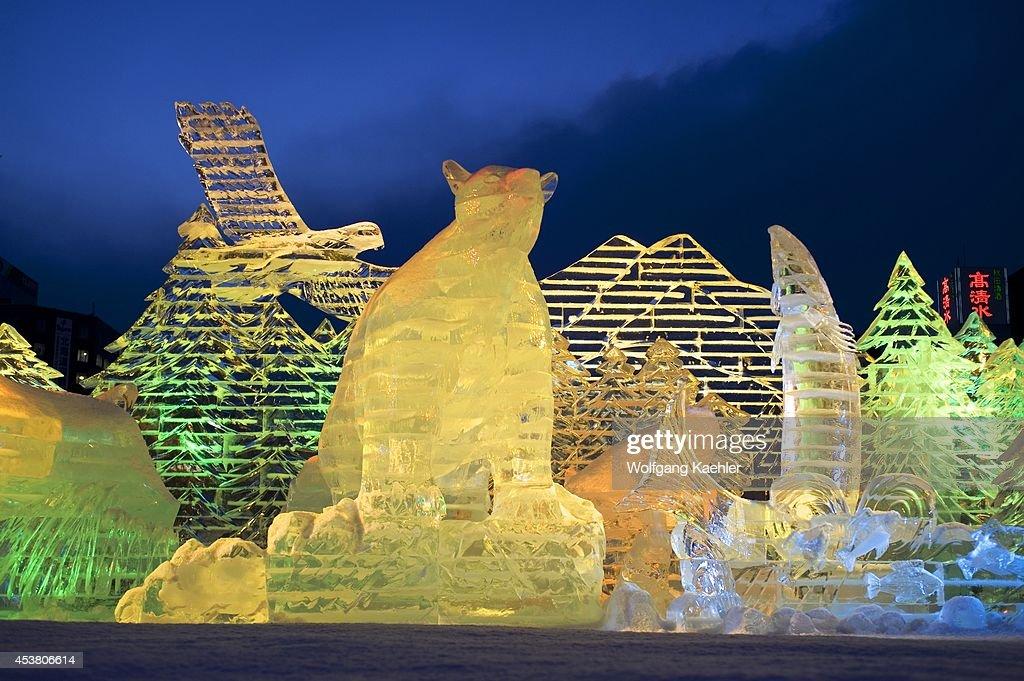 Japan, Hokkaido Island, Sapporo, Sapporo Snow Festival, Ice... : News Photo
