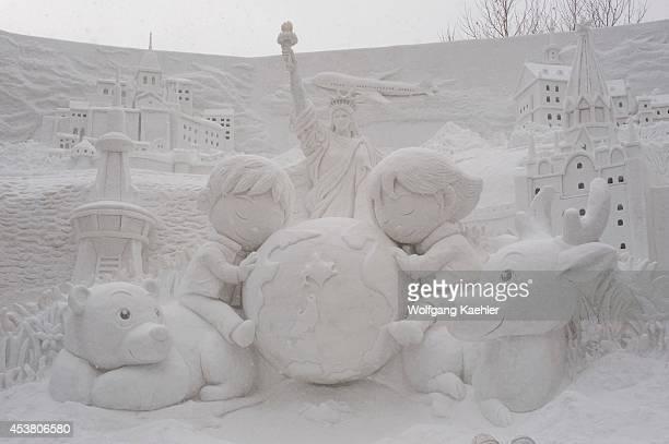 Japan Hokkaido Island Sapporo Sapporo Snow Festival Snow Sculptures