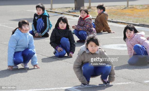 Japan holds its first evacuation drill for residents in the northern city of Oga Akita Prefecture on March 17 based on the scenario that North Korea...