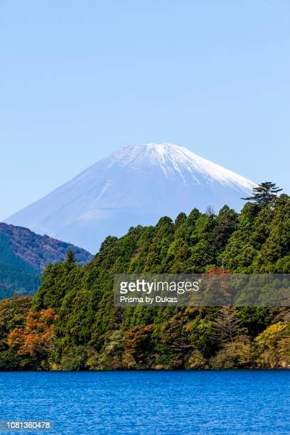 Japan Honshu FujiHakoneIzu National Park Lake Ashinoko and MtFuji