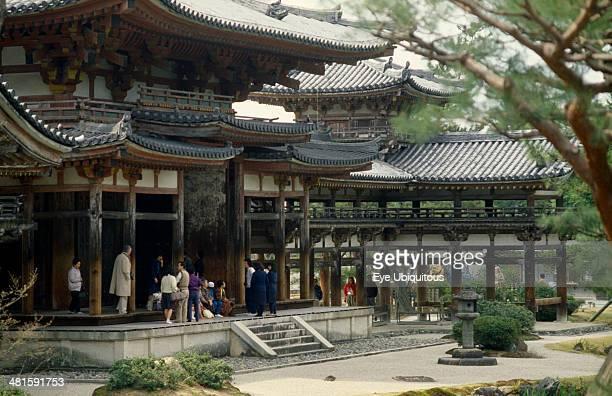 Japan Honshu Kyoto Uji Byodoin temple exterior